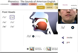 University of Iowa Phonetics: The sounds of American English page showing how the /I/ vowel sound is pronounced